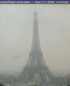 The Eiffel Tower in the Snow