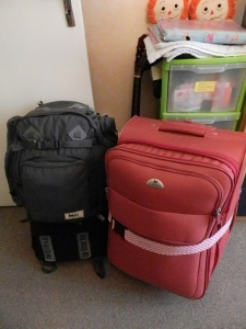 Fitting four years into two suitcases.